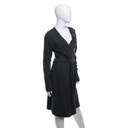 Diane von Furstenberg Wikkel blouse in grijs