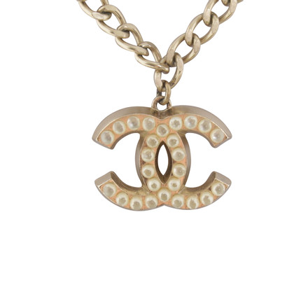 Chanel Necklace with logo-pendant