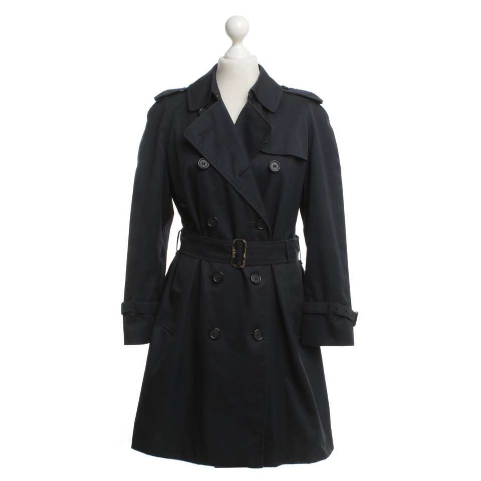 Burberry Short trench coat in dark blue