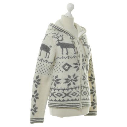 Bogner Vest trui met rendieren motief
