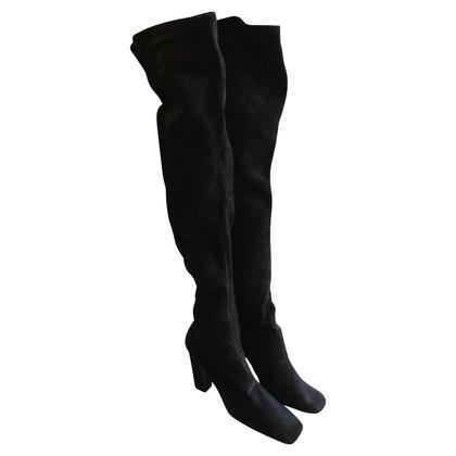 Prada Stivali in camoscio nero