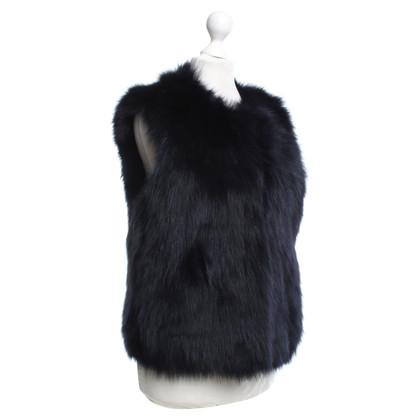 Diane von Furstenberg Fur vest in dark blue