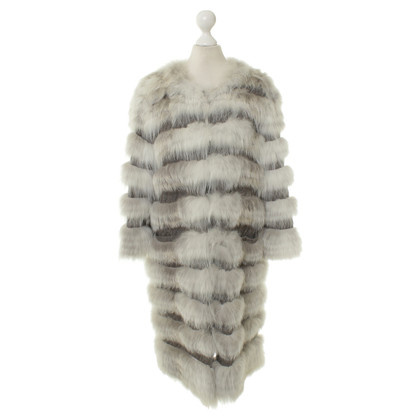 Yves Salomon Cashmere coat with fur trim
