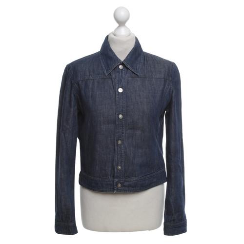 149dd375eab VersaceDenim jas in blauw- Second-handVersaceDenim jas in ...