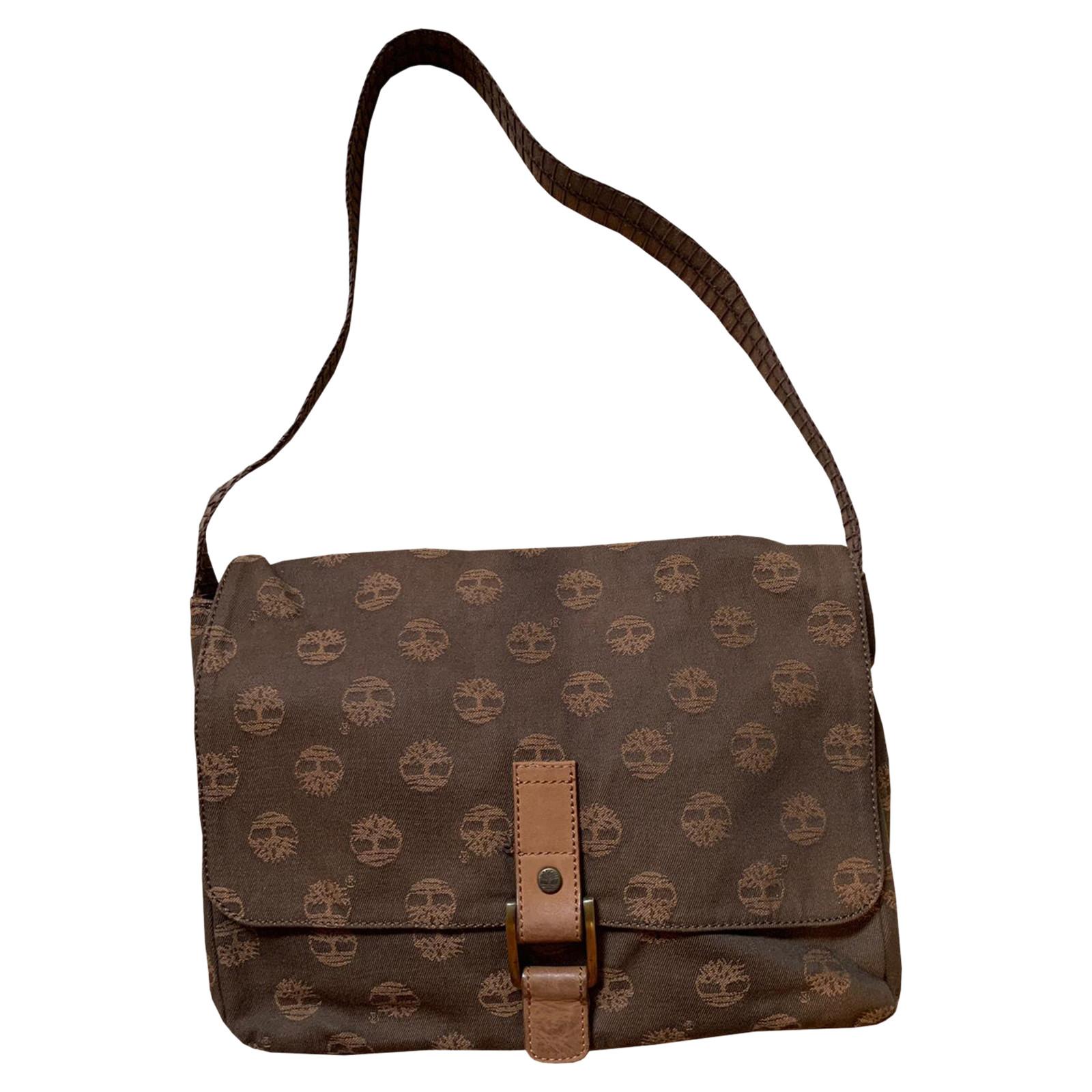 Inferir tenis salir  Timberland Shoulder bag Canvas in Brown - Second Hand Timberland Shoulder  bag Canvas in Brown buy used for 99€ (4343535)