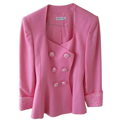 Guy Laroche Double breasted blazer in pink