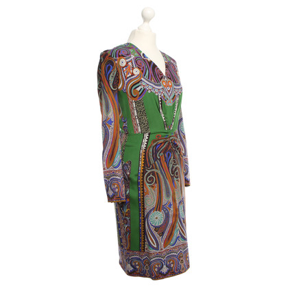 Etro Kleid mit buntem Muster