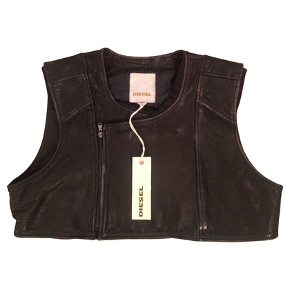 Diesel Black Gold Leather vest
