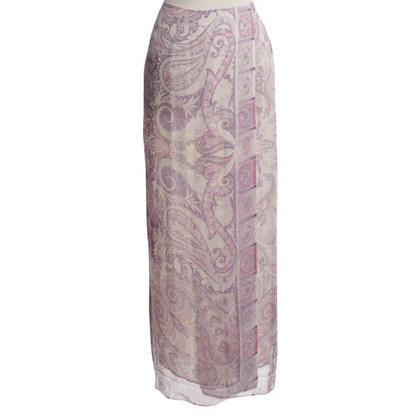 Etro Silk skirt with paisley pattern