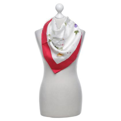 Hermès Foulard en soie avec imprimé floral