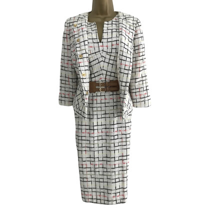 Milly Off White Woven Dress Suit