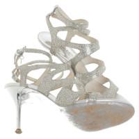 Michael Kors Silberfarbene Sandaletten
