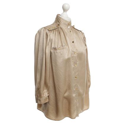 Reiss Beigefarbene Bluse aus Seide