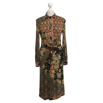 Leonard Silk dress with pattern