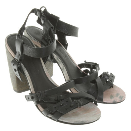 All Saints Sandals with block heel