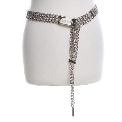 Versace Silberfarbener Gürtel
