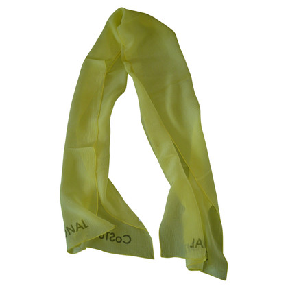 Costume National Silk scarf in yellow