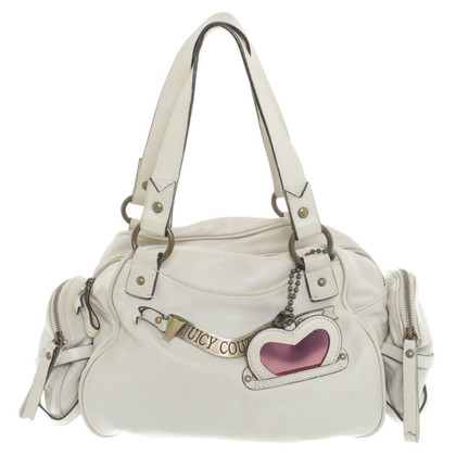 Juicy Couture Lederhandtasche mit Applikation
