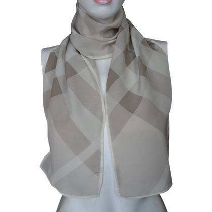 Burberry silk scarf and check pattern