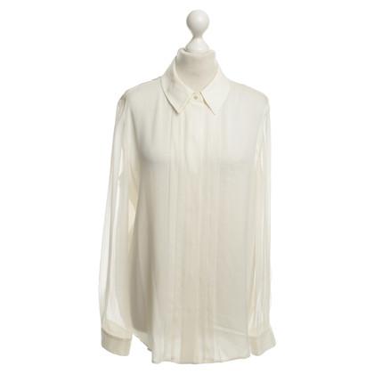 Armani camicetta di seta in crema