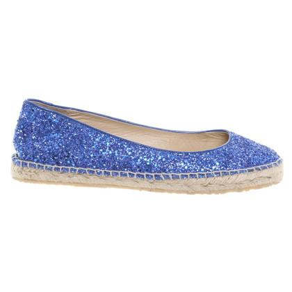 Jimmy Choo Glitter espadrillas in blu