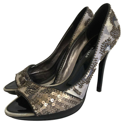 Karen Millen Peep-toes con finiture in paillettes