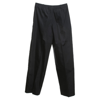 Prada Scuro pantaloni di seta blu