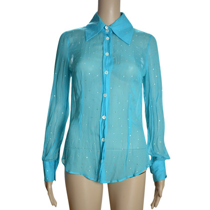 D&G Silk blouse in turquoise