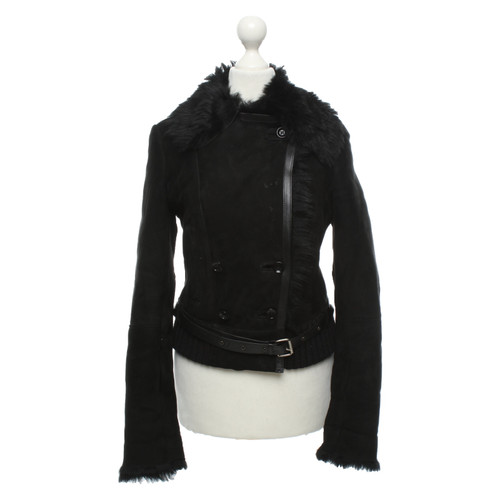purchase cheap fabd8 4dedc Patrizia Pepe Giacca/Cappotto in Pelliccia in Nero - Second ...