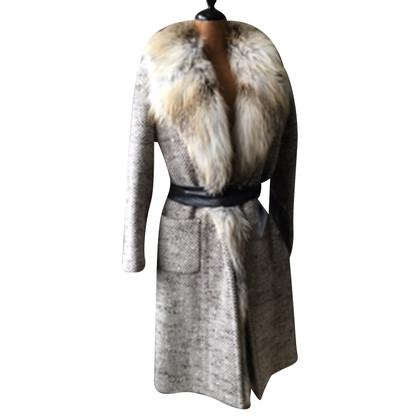 Ermanno Scervino coat with fox fur edges