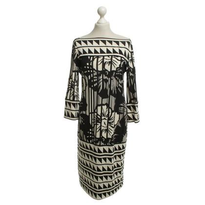 Diane von Furstenberg Kleid in Schwarz/Weiß