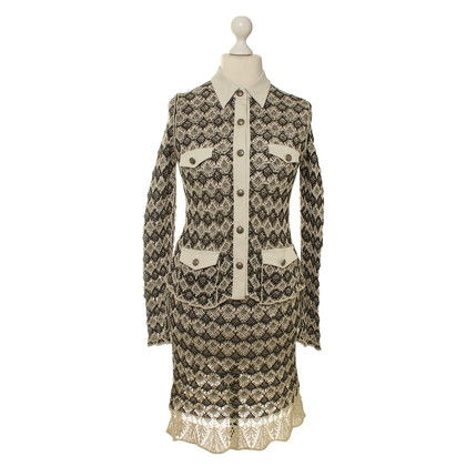 Marc Cain Knit costume in khaki/cream