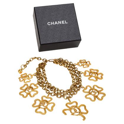Chanel Vintage Shamrock Halskette
