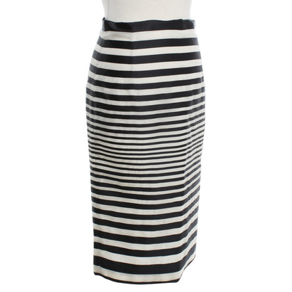 J. Mendel Pencil skirt with stripes