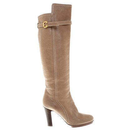 Chloé Leather boots in beige
