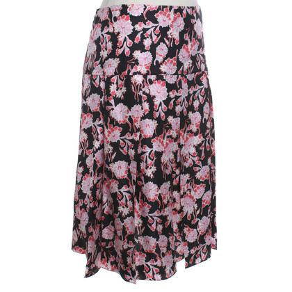 Marni Zijden rok met een bloemmotief