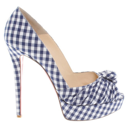 Christian Louboutin Peeptoes in Blauw / Wit