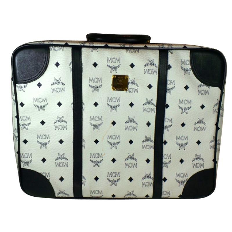 MCM MCM suitcase Black / White leather