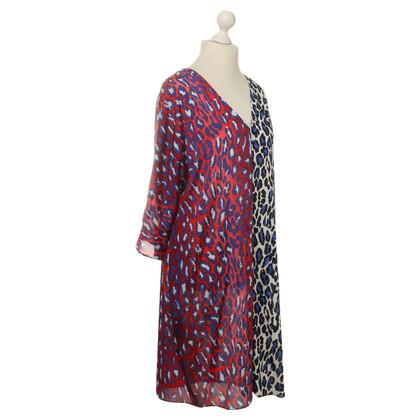 Talbot Runhof Animal-print silk dress