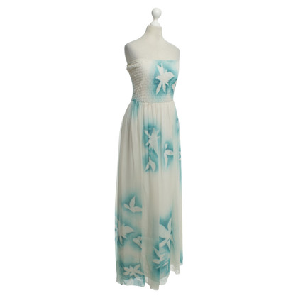 Elisabetta Franchi Strapless silk chiffon dress
