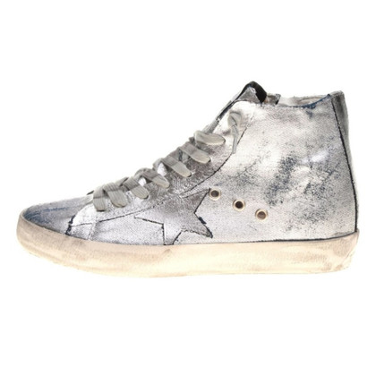 Golden Goose Silberfarbene Sneakers