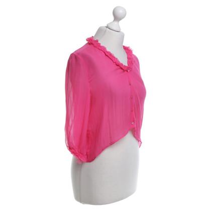 Marni camicetta di seta in rosa