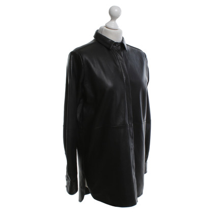 Other Designer Uterque - leather blouse in black