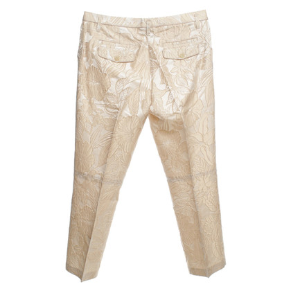 Schumacher Pants with a floral pattern in beige