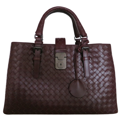 "Bottega Veneta ""Small Roma Bag"" a Bordeaux"