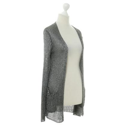 Hermès Cardigan in Silberfarben