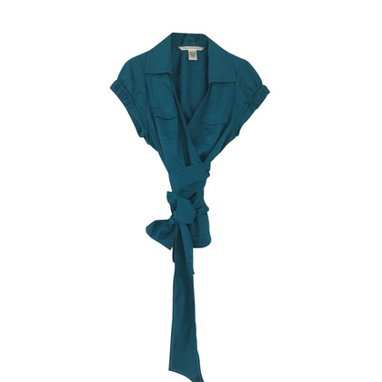 Diane von Furstenberg Wikkel blouse in Petrol