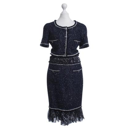 Chanel Bouclé-Kleid in Blau