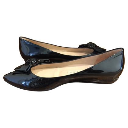 Pura Lopez Patent leather ballerinas