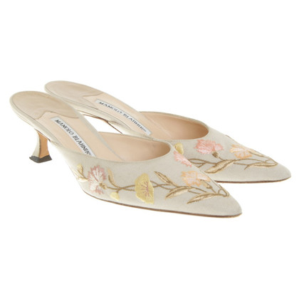 Manolo Blahnik Mules with embroidery